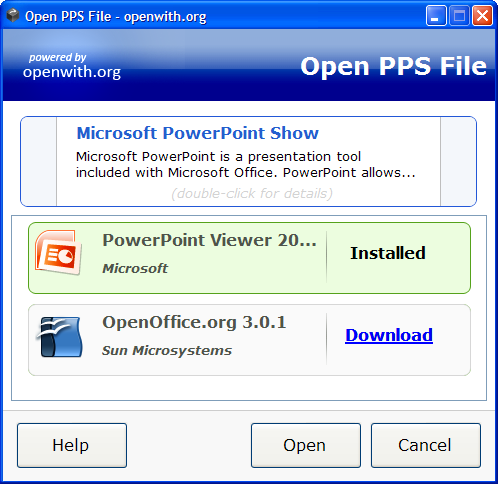 Open With Desktop Tool screenshot
